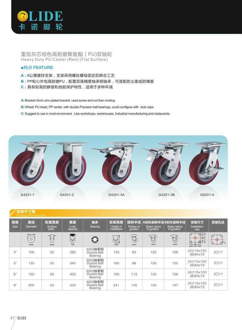 Heavy Duty PU Caster (G4201)