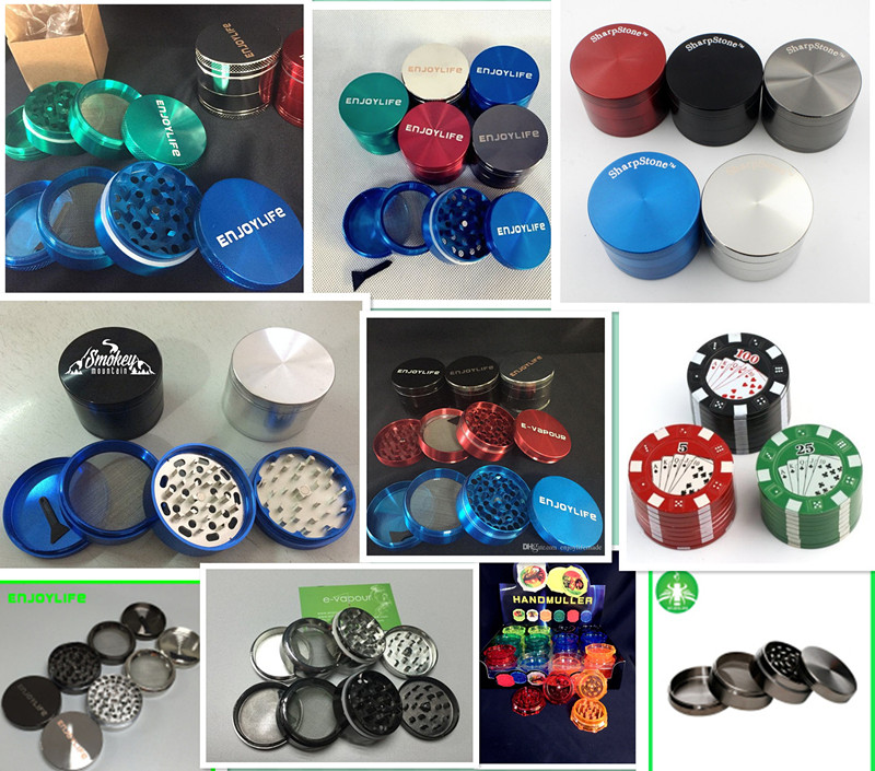 Top Manufacturer Metal Handle Zinc Grinders for Tobacco Smoking, High Quality Aluminum 100mm Herb Grinders