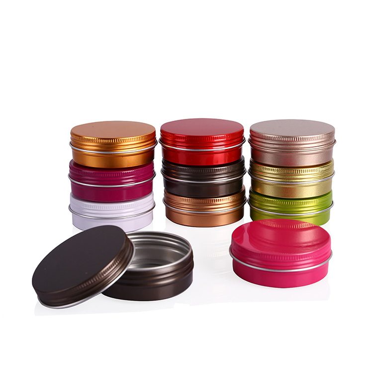 10g 15g 20g 30g 40g 50g 60g 80g 100g 150g 200g 250g 350g Colorful Food Grade Aluminum Cosmetic Jar
