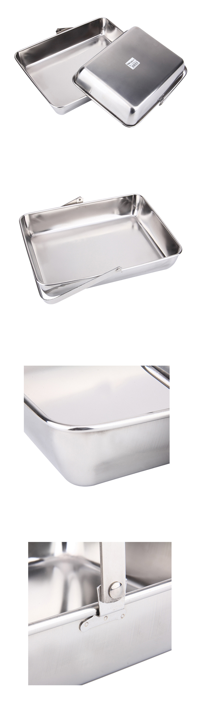 Wholesale Hotel Supplies Stainless Steel Portable Dish Towel & Serving Tray