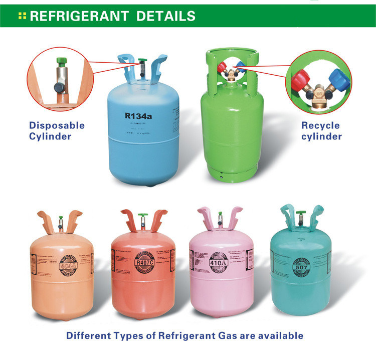 Disposable Cylinder Refrigerant Gas R134A