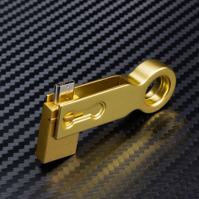Golden and Silver OTG USB Flash Drive for Free Sample