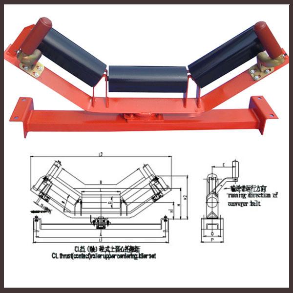 Carbon Steel Belt Conveyor Roller / Idler Roller