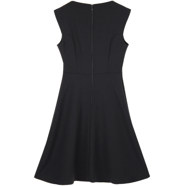 Solid Color Sleeveless Formal Dress