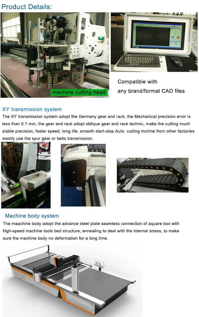 Textile Fabric Cutting Machine with Automatic Cloth Cutter and Auto Feeding Device