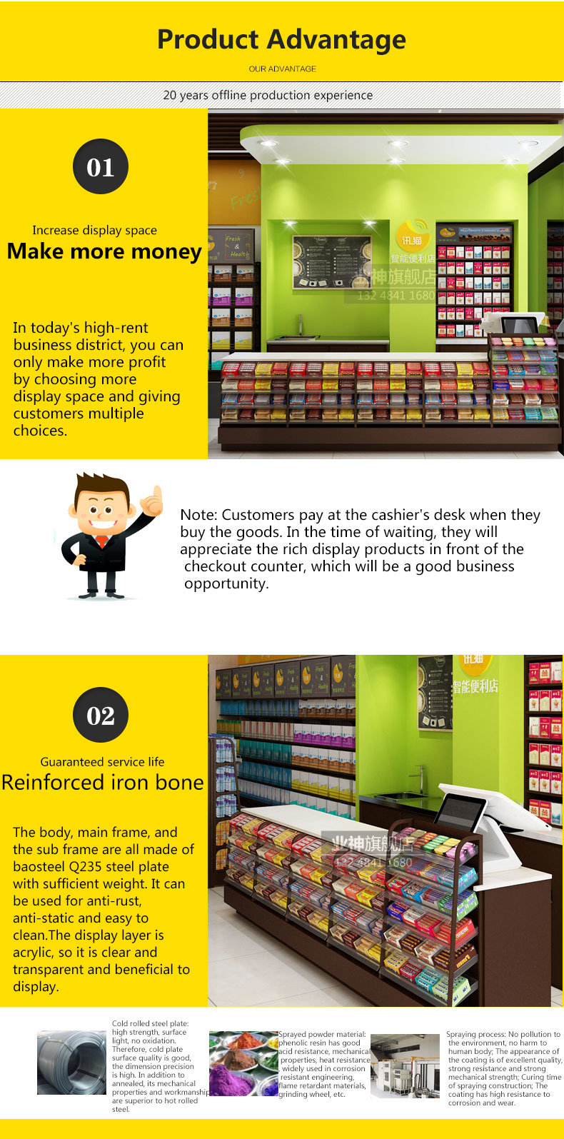 Cashier Desk/ Checkout Counter/ Checkstand Used in Supermarket