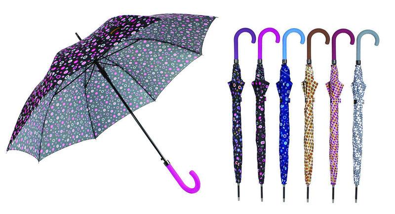 Colorful DOT Print 3 Fold Open&Close Umbrellas (YS-3FD22083969R)