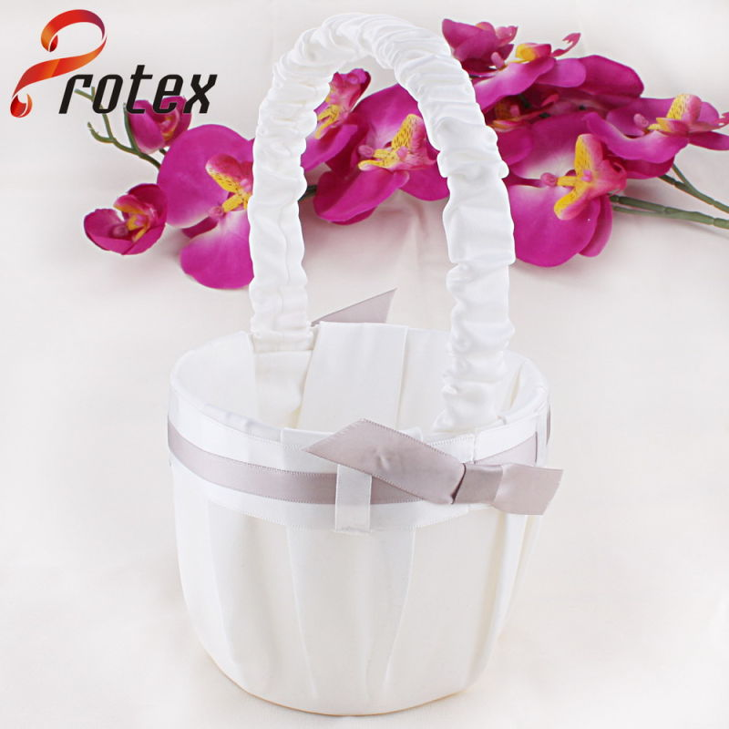 2015 Latest Wedding Handmade Flower Basket for Flower Girl