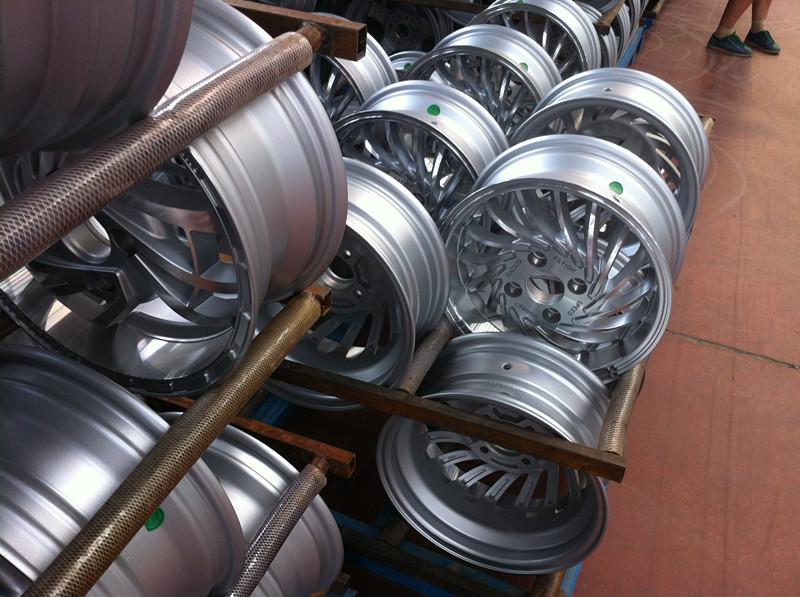 Silver Machine Face Rotiform Alloy Wheel