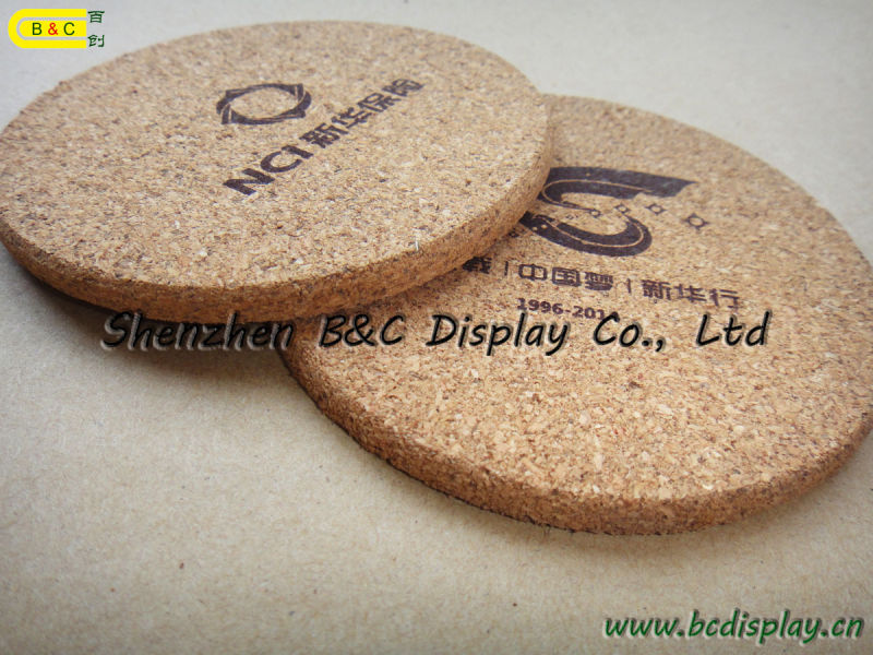 6 PCS/Set Square Shape Cork Coaster with 1 C Printing (B&C-G099)