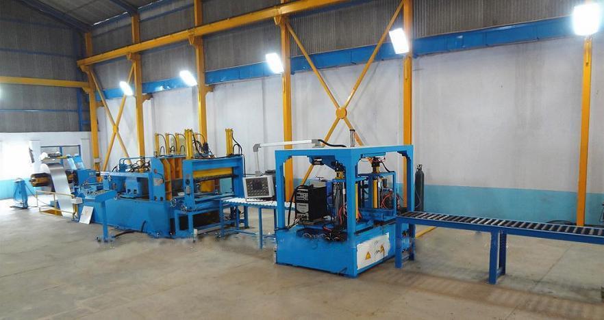 Transformer Corrugation Fin Production Line Fin Folding Auto Welding