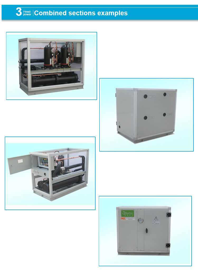 Motor Protection Industrial Water Cooled Water Chiller Scroll Type Industrial
