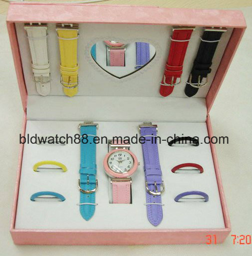 Girls Gift Watch Sets with Changeable Bands