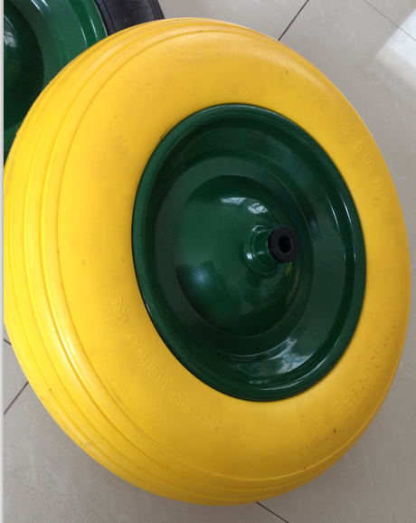 PU Flat Free Wheel with High Quality for Wheel Barrow Use