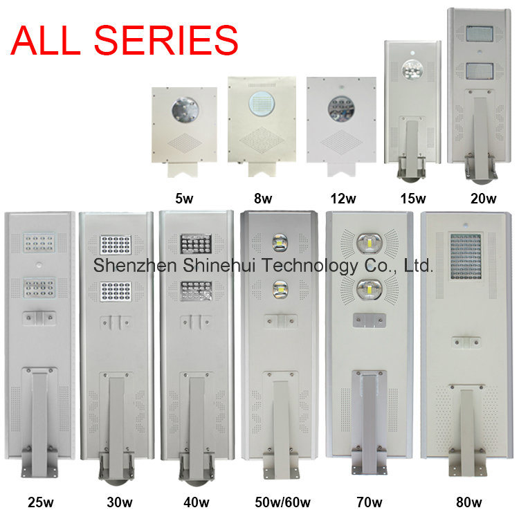 China Top Ten Selling Products Solar Street Lamp Lights (SHTY-260) High Lumen High Powered 9m Solar Motion Sensor Light