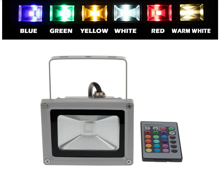 30W IP65 RGB Remote Controller LED Outdoor Floodlight