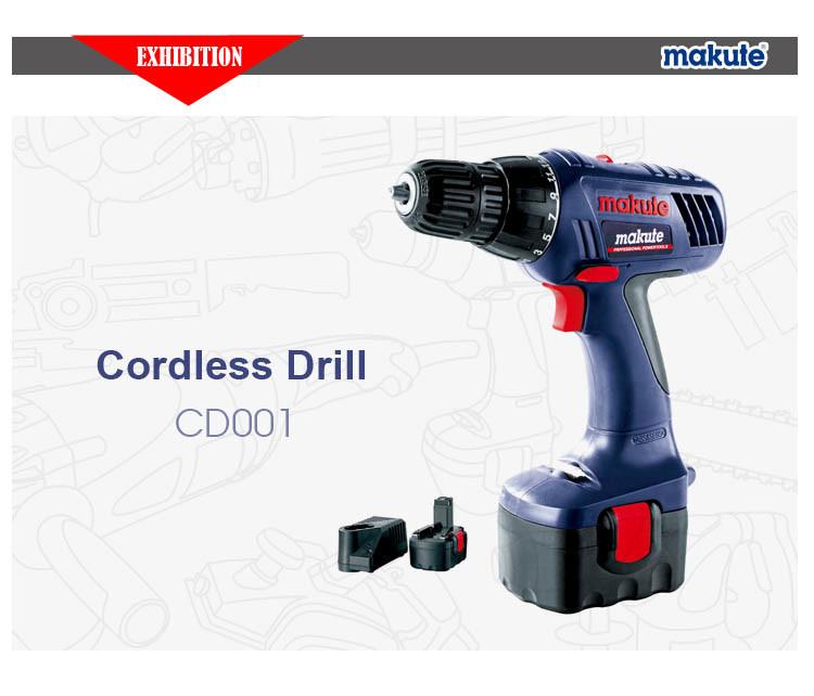 18V Ni-CD Long Time Use Cordless Drill (CD001)