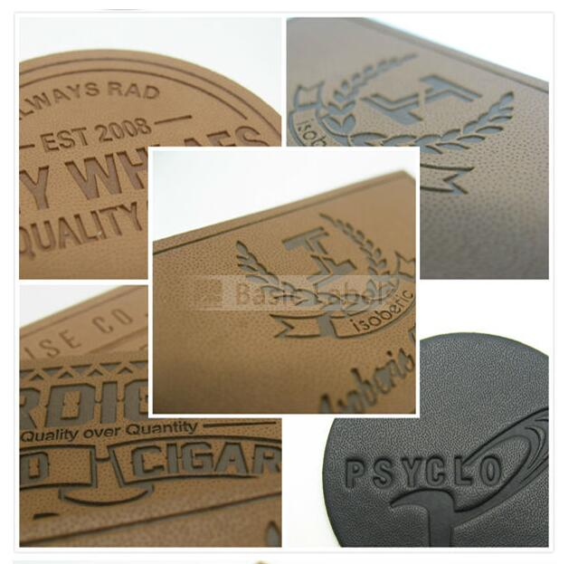 Leather Patch - Garment Accessory Custom Private Brand Name Logo Jeans Leather Label Patch
