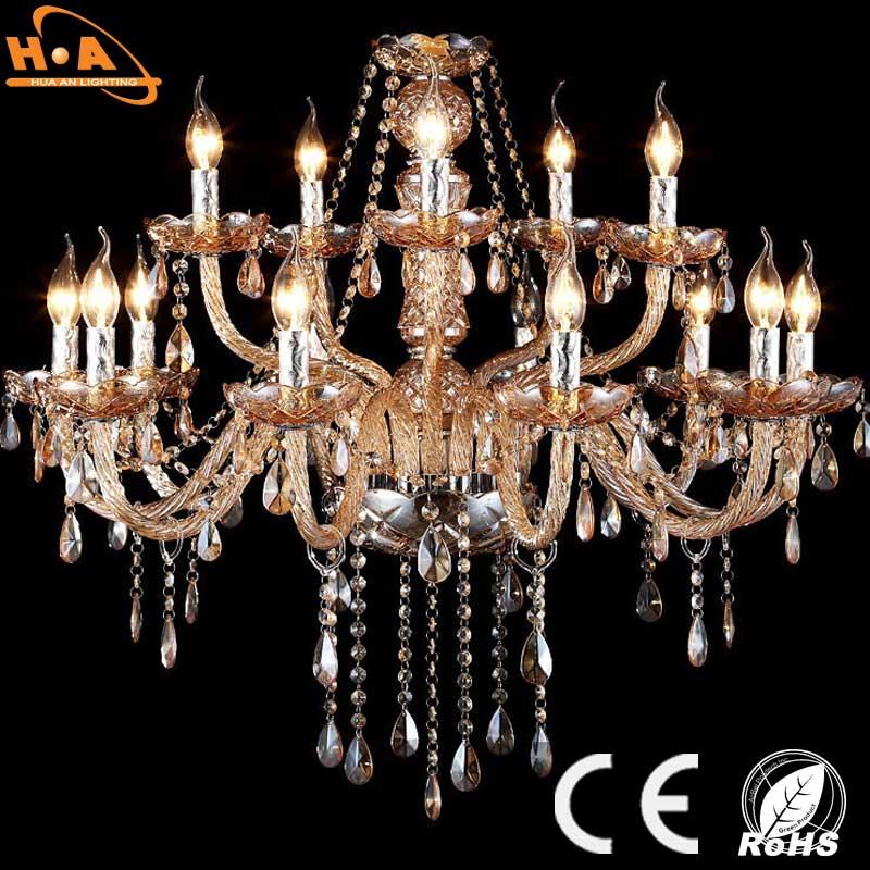 Decorative Elegant K9 Crystal Chandelier with LED Candle Bulb