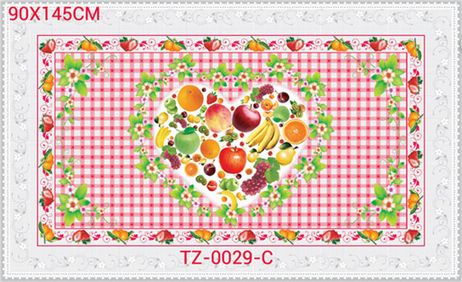 Waterproof, Oilproof Feature PVC Printed Transparent Tablecloth of Independent Design 90*145cm (TJ 0023)