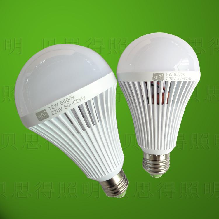 12W LED Bulb Light Rechargeable LED Lamp E27