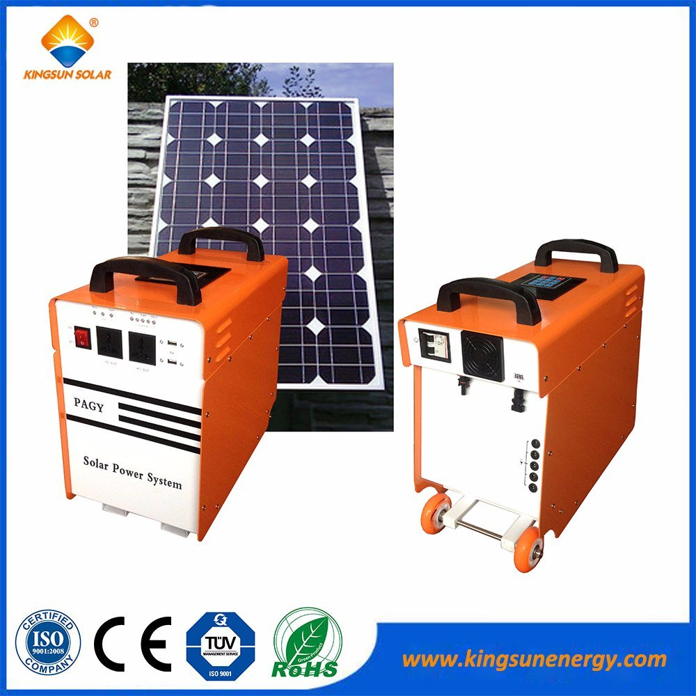 500W off Grid LED Portable Solar Power System for Home Use