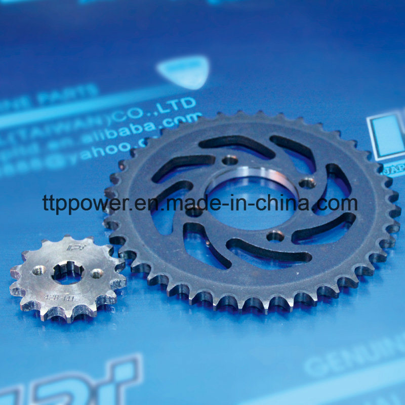 Cg125/150 45 Stainless Steel Motorcycle Parts Chain Set Big&Small Sprocket