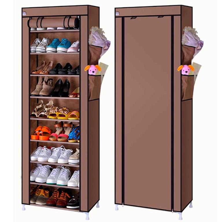Modern Furniture Large Folding Fabric Shoe Storage Cabinet