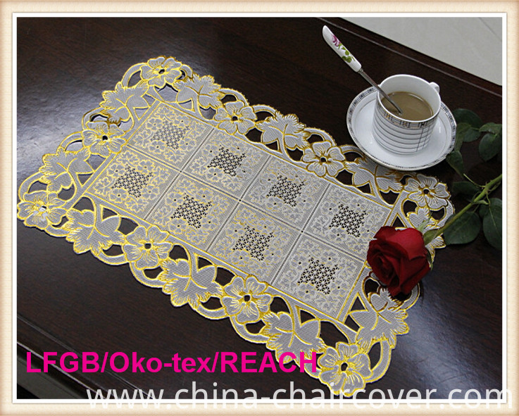 PVC Gold & Silver Plastic Table Mat