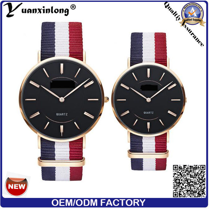 Yxl-619 Customized Slim Quartz Couple Lover Watch/Stainless Steel Back Unisex Wrist Watch