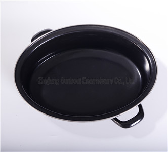 Enamel Cookware Carbon Steel Pan for Frying/Baking/BBQ