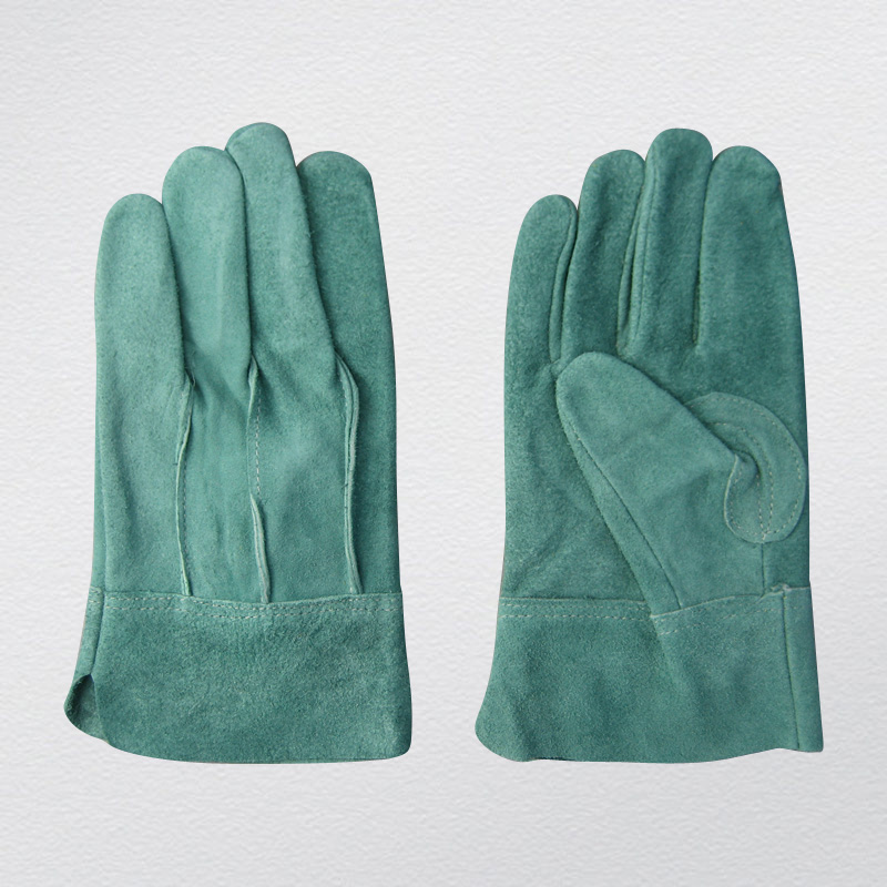 Cow Split Full Leather TIG Welding Glove Protective Glove-9969. Gn