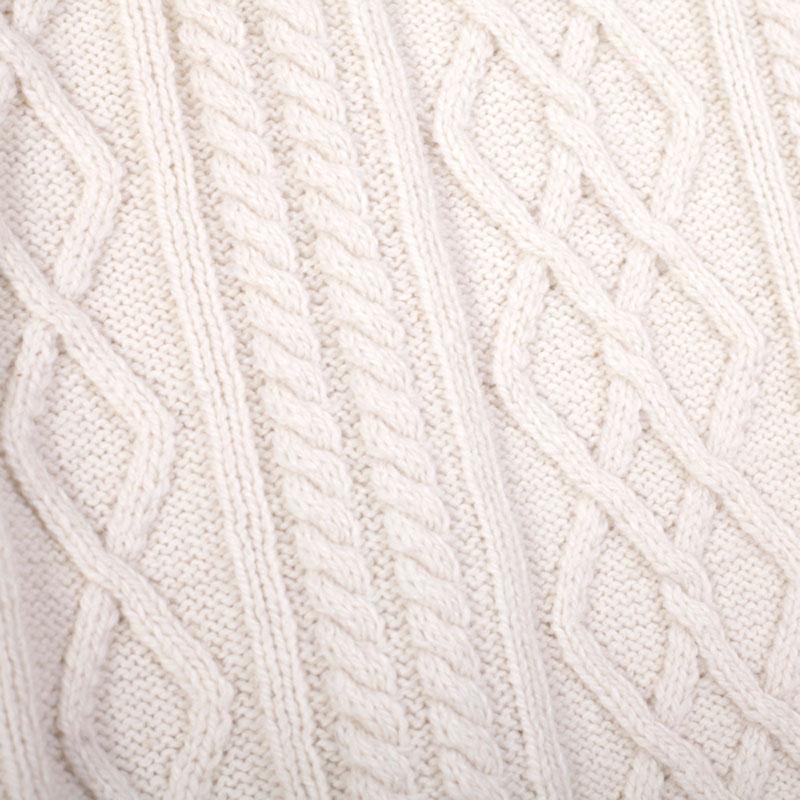 Acrylic Nylon Wool Alpaca Cable Knit Man Sweater