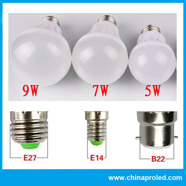 Hot Selling Plastic LED Bulb Light From 3W to 15W