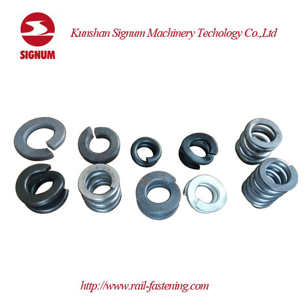 Fe6 Railway Double Coil Helical Spring Lock Washer