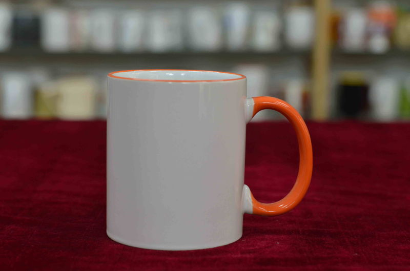 11oz Color Rim and Color Handle Sublimation Mug
