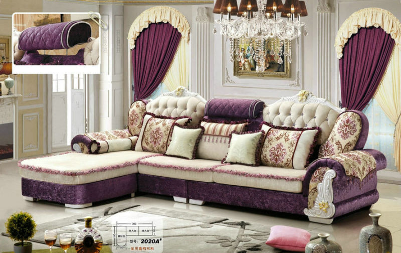 Luxury New Classic Fabric Sofa Furniture (2020B)