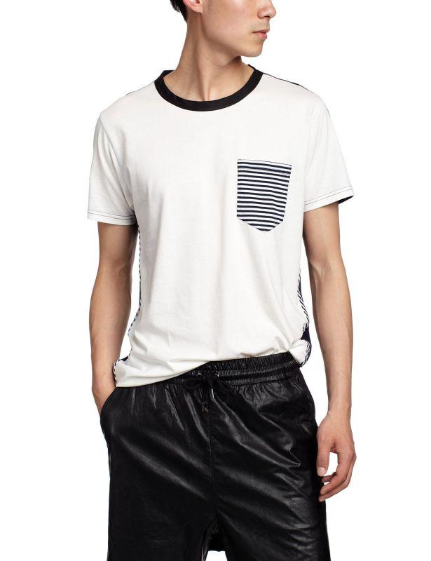 Men Hip Hop Contrast Collar Jersey T Shirt