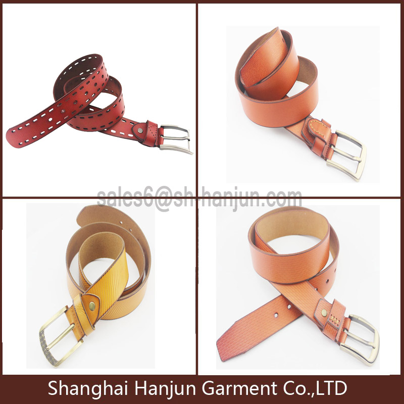 Top Brand Top Grain Genuine Leather Belt with Customized Logo Embossed