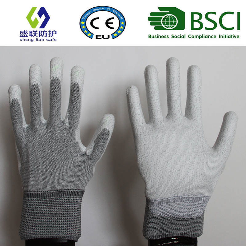 ESD Nylon PU Top Fit Glove (ESD-PU201)