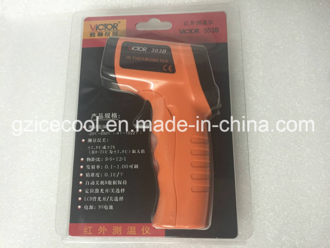 Victor Brand -20 ~ 550 Degree Non- Contact Digital Infrared Thermometer Vc303b for Medical
