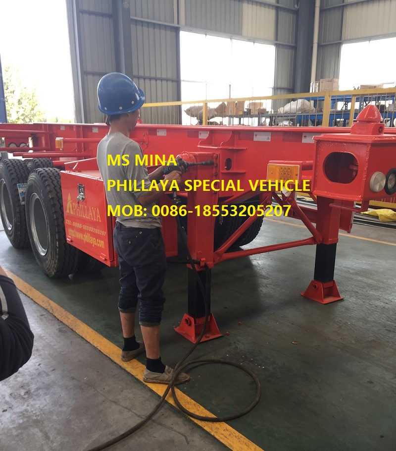 Truck 20f 40FT Container Skeleton Semi Trailer with Skeletal Frame