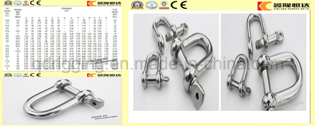 G2150 Bolt Type Electric Galvanized Steel Drop Forged D Shackle