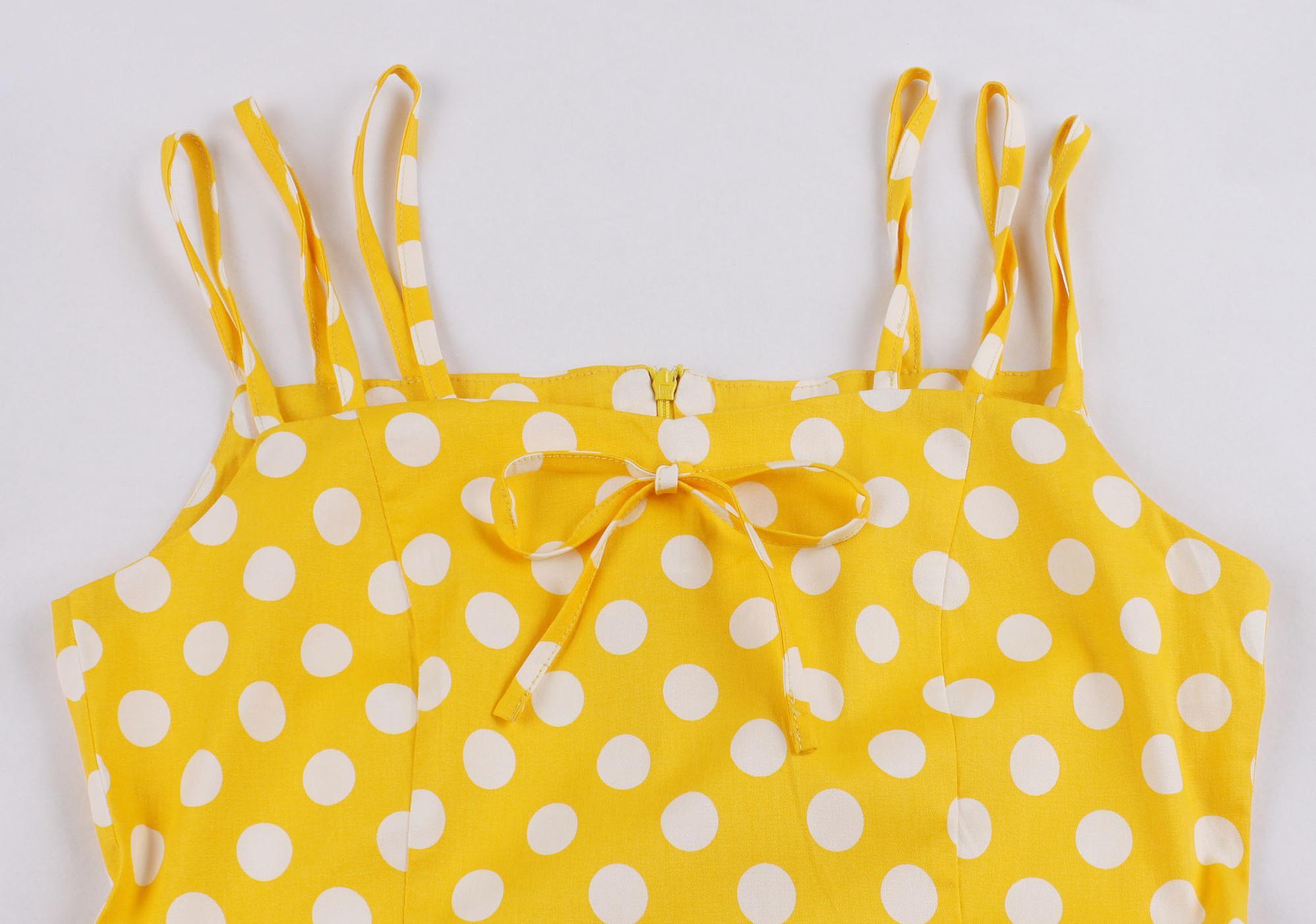 Polka Dot Printed Party Dress
