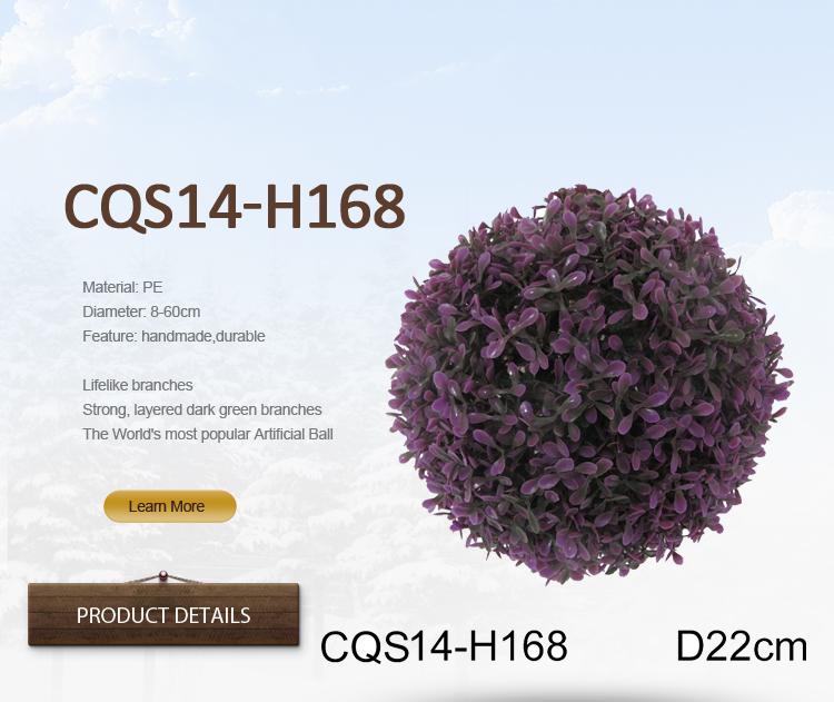 D22cm Plastic Purple Craft Christmas Ball for Christmas Decoration