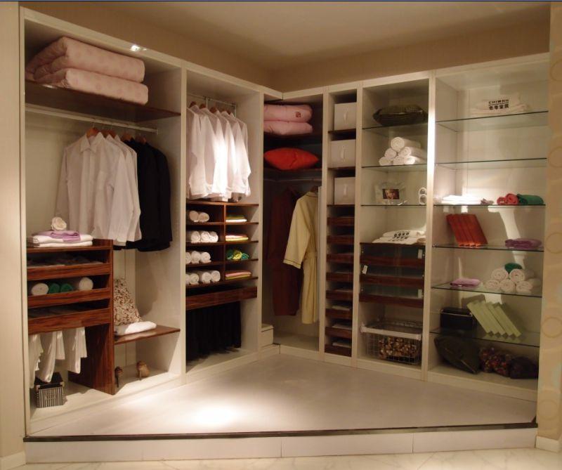 Modern Bedroom European Walk in Wooden Wardrobe Cupboard (ZH977)