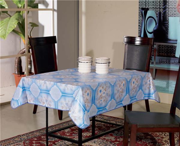 Cheap White Opaque PVC Printed Tablecloth