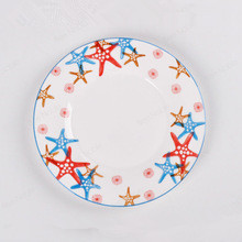 Kitchenware Enamel Dinner Salad Dessert Dish Plate/Snack Disc