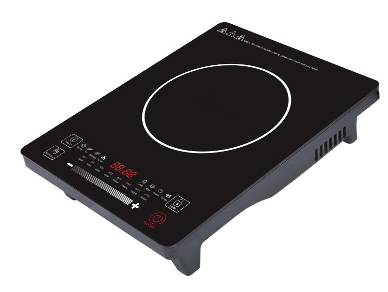 2017 CE CB EMC LVD RoHS Touch Screen Induction Hob - 2000 W