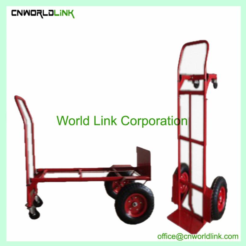 Foldable Hand Trolley Warehouse Steel Transport Cart